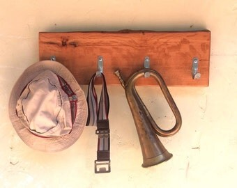 Rustic Wooden Hat Rack wall mounted Recycled Reclaimed Wood