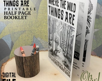 Where The Wild Things Are Party Theme Printable Half Page Booklet