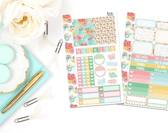 PK5-Summer Floral Personal Planner Sticker Kit