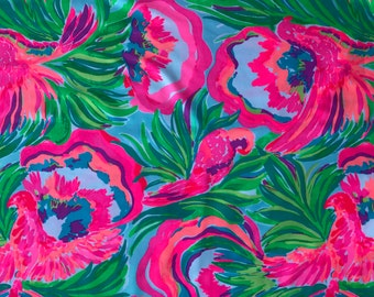 PARADISE BOUND SPRING 2017 18x18 or 18x9  inches Lilly Fabric