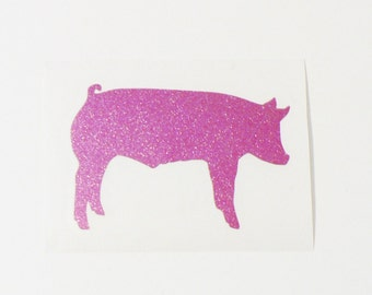 Show Pig Decal, Show Stock Decal, Steel Cup Decal, Show Pig Sticker