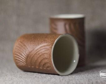 One Yunomi tea cup for Japanese tea - handmade *0597-1