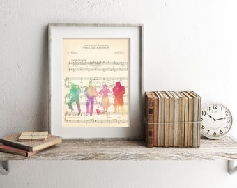 The Wizard of Oz Watercolor Sheet Music Art Print