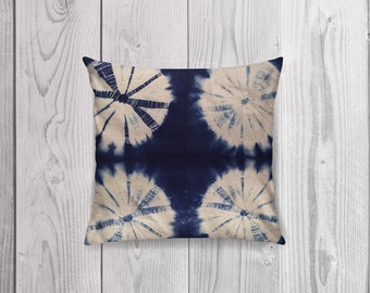 Shibori Cushion Cover ~ STARBURST