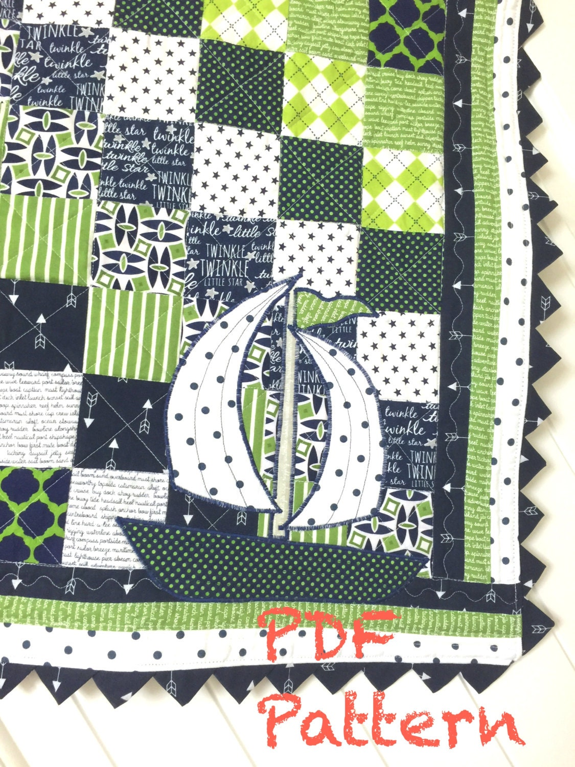 Sailboat Baby Boy Quilt Pattern Quilt Pattern Sailboat Quilt