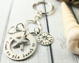 Beach Keychain~ Beach Key Chain~ Vacation Gifts~ Moving Gift~Birthday For Her~ New Homeowners Gift~ Holiday Gift Idea~ Gift For Girlfriend
