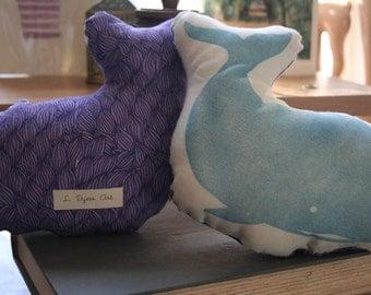 Whale Hello!-Handmade Fabric Doll
