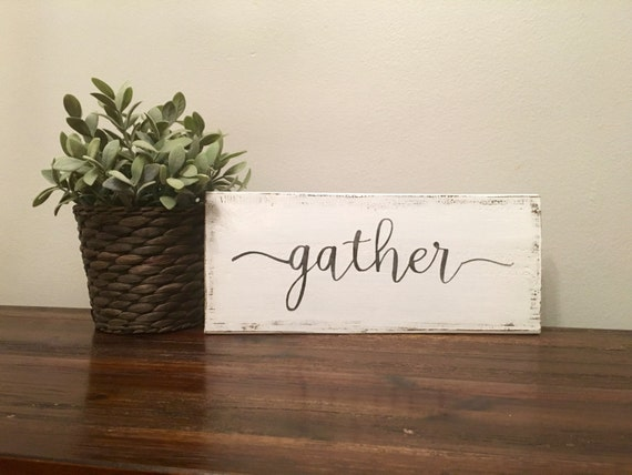 Wall Decor Gather : Gather sign wooden rustic wall decor gallery