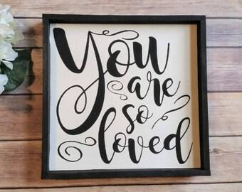You are so Loved, Nursery Sign, Nursery Decor, Kids Room Decor, You are Loved Sign, Baby Room Decor, Home Decor, Nursery Wall Art, Handmade