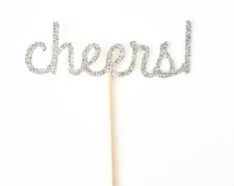 Cheers Cupcake Toppers - Set of 12
