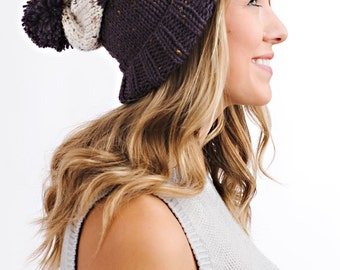 Knitting Pattern - Slouchy Hat // Downton Tweed