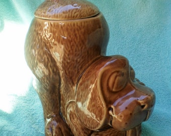 Vintage McCoy Pottery Thinking Dog Cookie Jar 1950's-Summer Sale Item