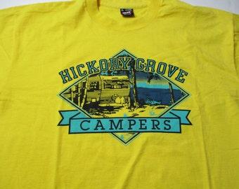 Vintage Camper Trailer Shirt - Hickory Grove Campers - Trailer Park Shirt - Vintage Trailer Park Tshirt - Campground Shirt - Camp Shirt
