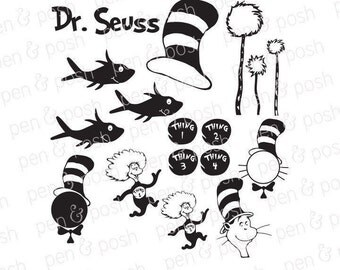 Cat in the hat svg   Etsy