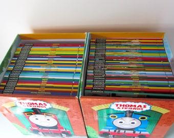 Thomas the tank engine, The complete Thomas the tank engine library, 68 Thomas story books, Complete collection Thomas stories, Steam train.