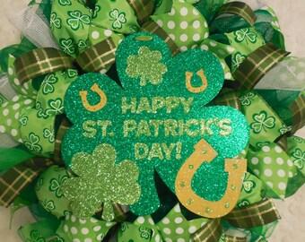 St. Patricks Day Wreath, St. Patricks day, St Patrick's day wreath, St Patricks day wreath, St Patrick wreath, Saint Patricks