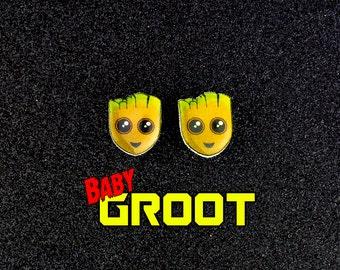 BABY GROOT inspired Earrings
