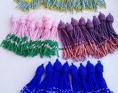 Reserved for Viola Beaded earrings tassel