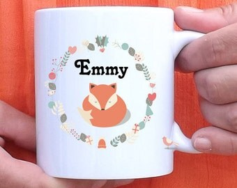Mug to customize little Fox - Cup - personalized gift - name - birthday gift