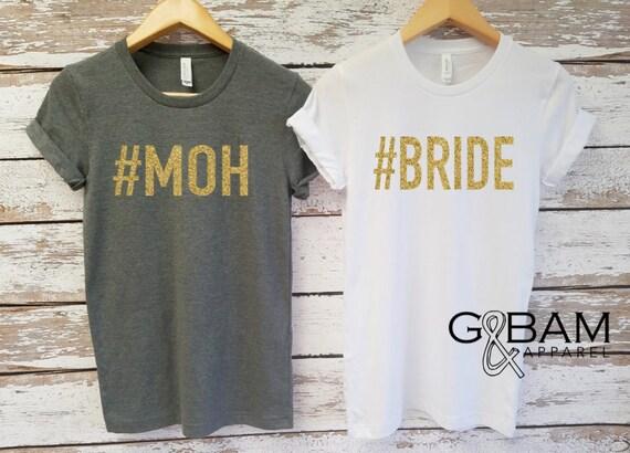 Bride Shirt / MOH Shirt / Boyfriend T-shirt / Bridesmaid shirts / Bachelorette party shirts