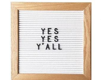 "10"" x 10"" Wood Frame Letter Board - White"