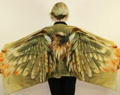 Eagle wing, Silk scarf,Long Scarf, Summer Scarf,Wrap Scarf,Wing Scarf,Art Scarf,Gift for Her,Unique,Scarf Art,Wing on Wrap,Over Size Scarf