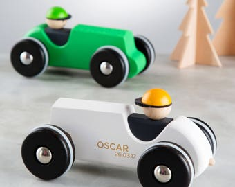 Personalised Wooden Racing Car Toy