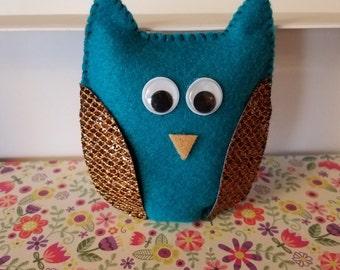 Owl Sachet, Hand Sewn
