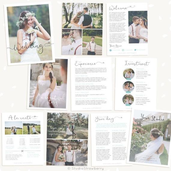 wedding photography brochure template - wedding photography magazine template wedding brochure