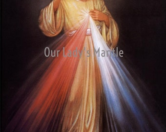 JESUS, The Divine Mercy I Trust in You 8x10 Religious Picture Print Made in USA