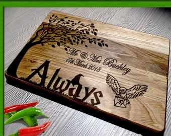 Cutting Board harry potter wedding / Wedding Gift Cutting Board /  harry potter wedding gift / harry potter cutting board / cutting board