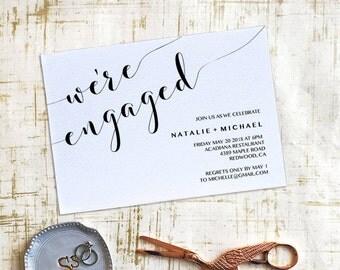 Engagement Invitation Printable, Engagement Invitation Template, We're Engaged Invitation, Instant Download, PDF, Digital, PPS12