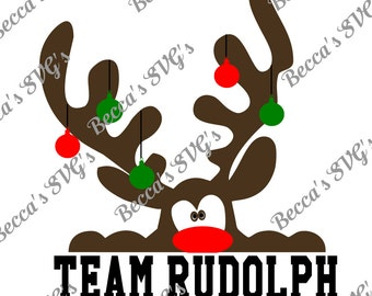 """4 Color/Layer """"Team Rudolph"""" SVG"""