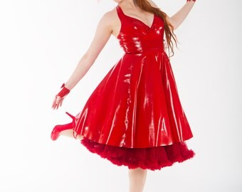 Latex circle skirt (long)