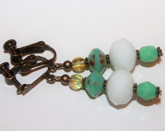 Clip earrings with screw cap