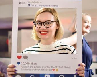 FULLY PRINTED Instagram style  personalised Selfie Frame