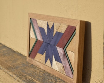 wood wall art | reclaimed wood wall art | handmade wooden art | geometric wooden art