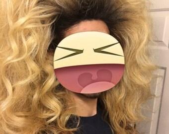 Huge Blonde Drag Queen Lacefront Wig with Dark Roots