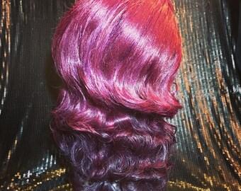 Wavy Purple Lacefront Vintage Inspired Drag Wig