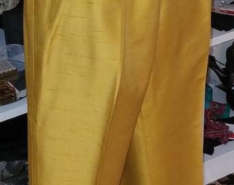 Clean, Vintage, 1950's, 1960's, Alex Coleman, Gold, Mustard, Cigarette, Capri, Pants
