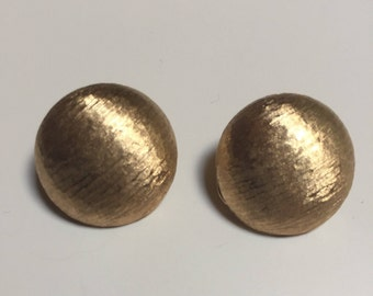 Monet Brushed Gold Tone Clip On Earrings