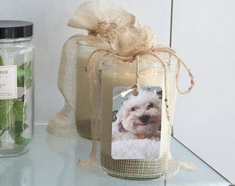 Project Groom Organic Soy Candle in Recycled Wine Bottle