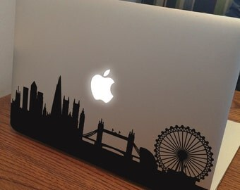 """LONDON SKYLINE MacBook Decal Sticker fits 11"""" 13"""" 15"""" and 17"""" models"""