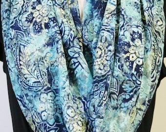 Blue Lace Scarf