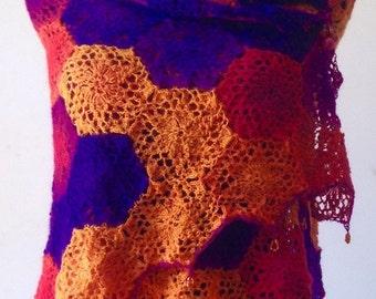 Shawl Wrap Wool 'Melonberry'