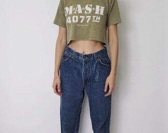 Vintage 1970s Levi's High Waist Jeans 27 | Levis White Tab Jeans | Levis Denim Jeans