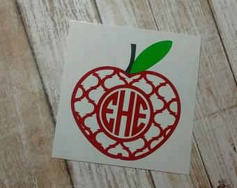 Teacher Decal/Teacher Monogram/ Monogram/Decal/ Vinyl Decal/ Dietitian Decal/ Nutritionist Decal/Yeti Cup Decal/ Monogram Decal/HTV Decal