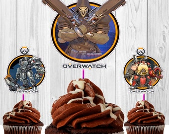 20 Toppers Overwatch REAPER Video Game for cupcakes download Instantaneous, printable, high quality, PDF file.