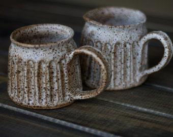 Moonscape Milkshake Mug - ceramic mug, stoneware mug, made to order in 2 months