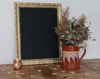 Cool Vintage Gold Metallic Frame with Chalkboard 18 x 14 inches - Perfect for Wedding - Blackboard, Menu, Sign, Home Decor, Party, Prop